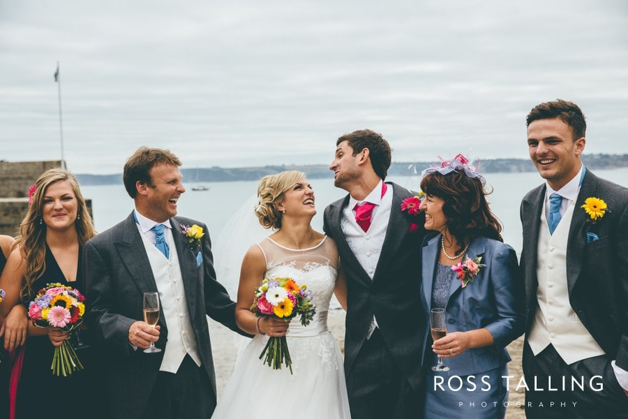 Wedding Photography Cornwall Polkerris Beach by Ross Talling Hollie & George_0078