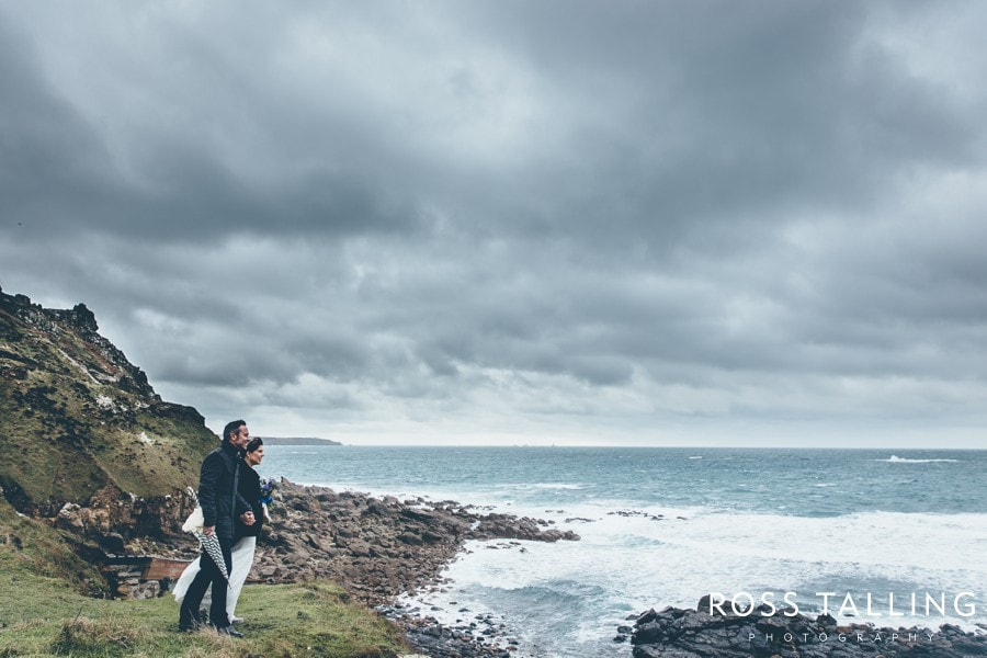 Cornwall Wedding Photography Boho Elopement Wedding - Nicola & Stephen_0037