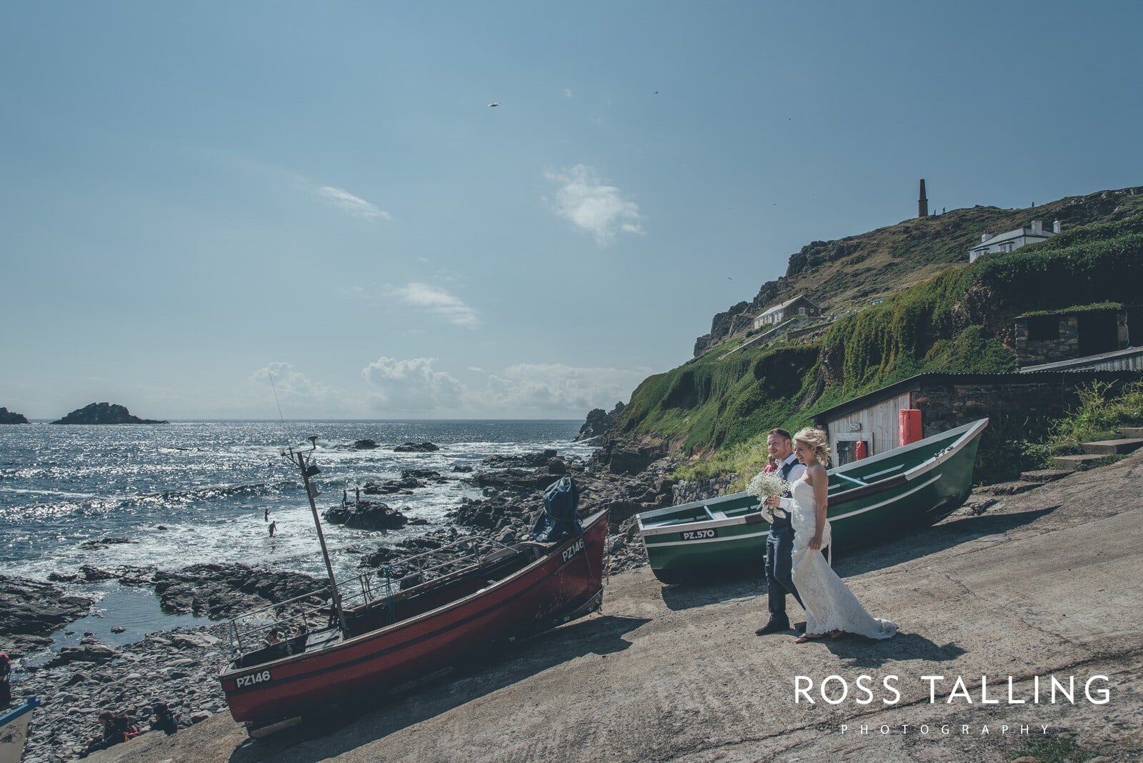Boho Elopement Wedding Photography Cornwall - Stacey and Steve_0073