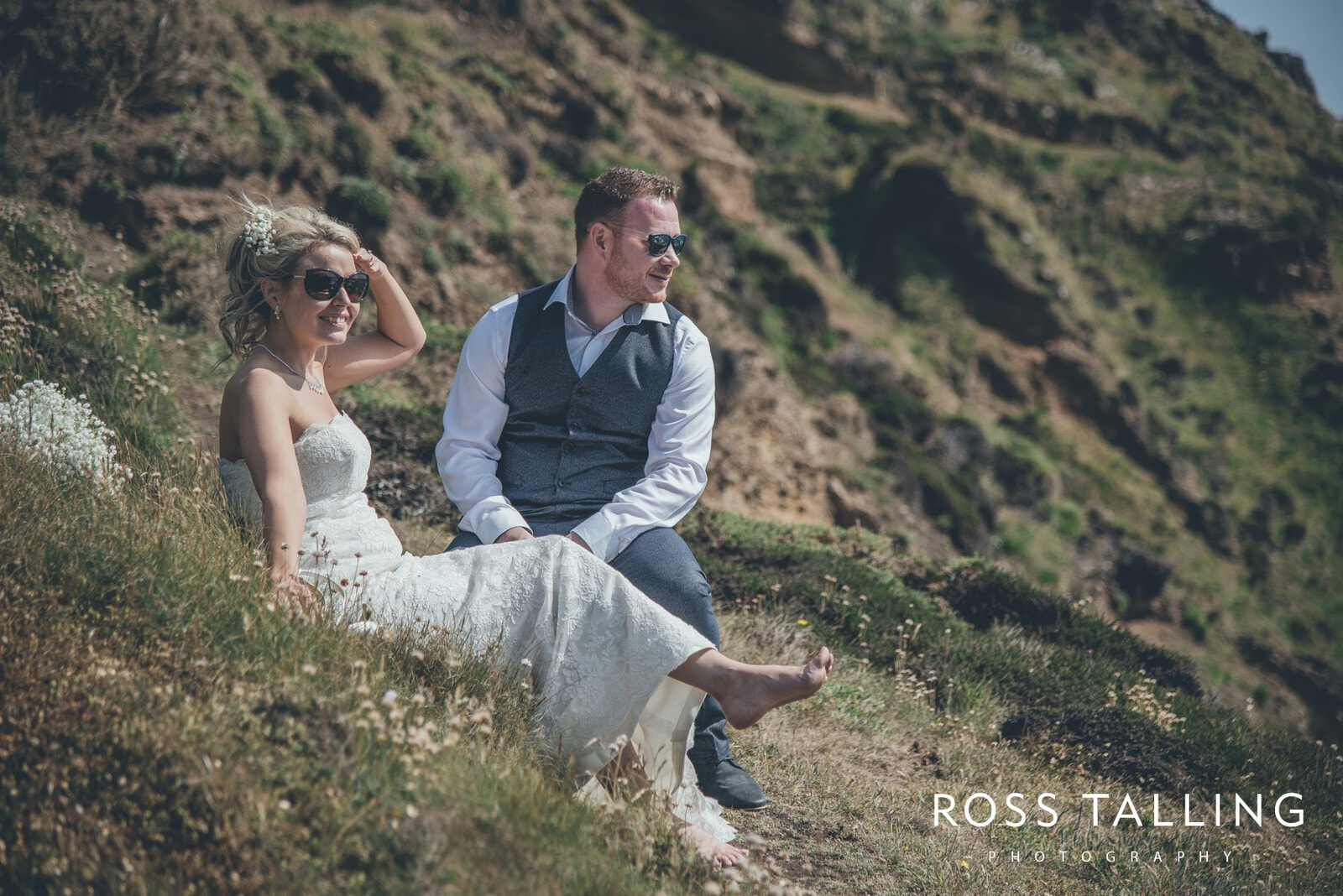 Boho Elopement Wedding Photography Cornwall - Stacey and Steve_0066