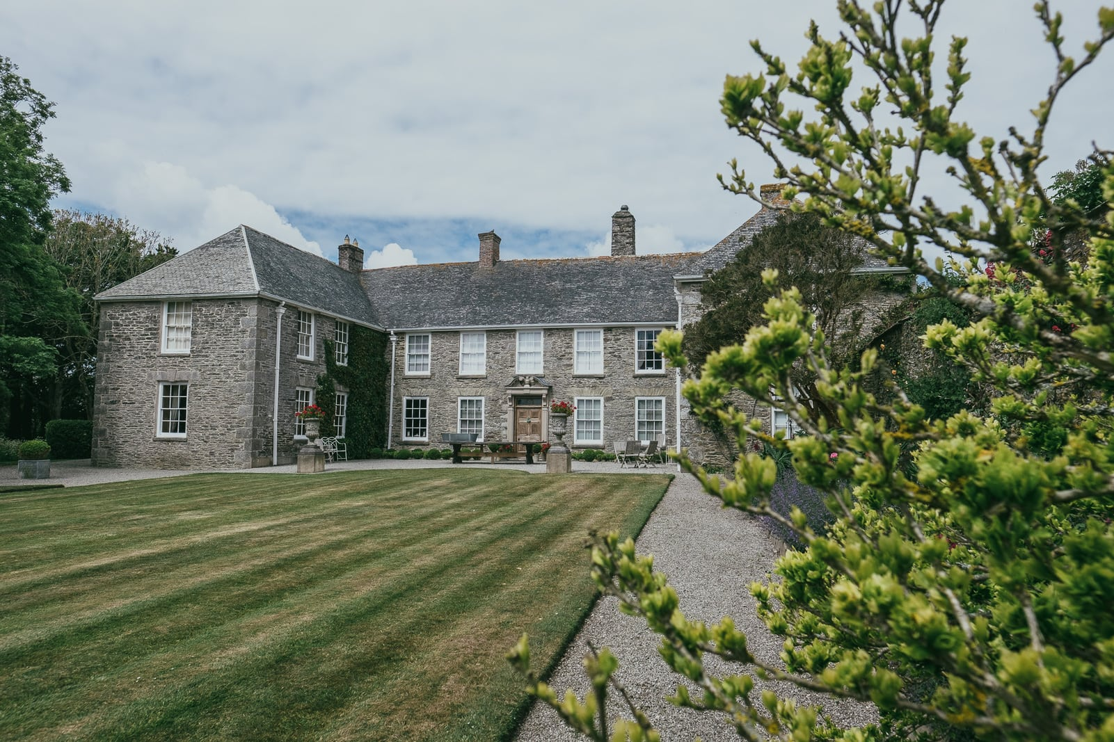 Rostegue Manor a wedding venue near Portscatho in Cornwall