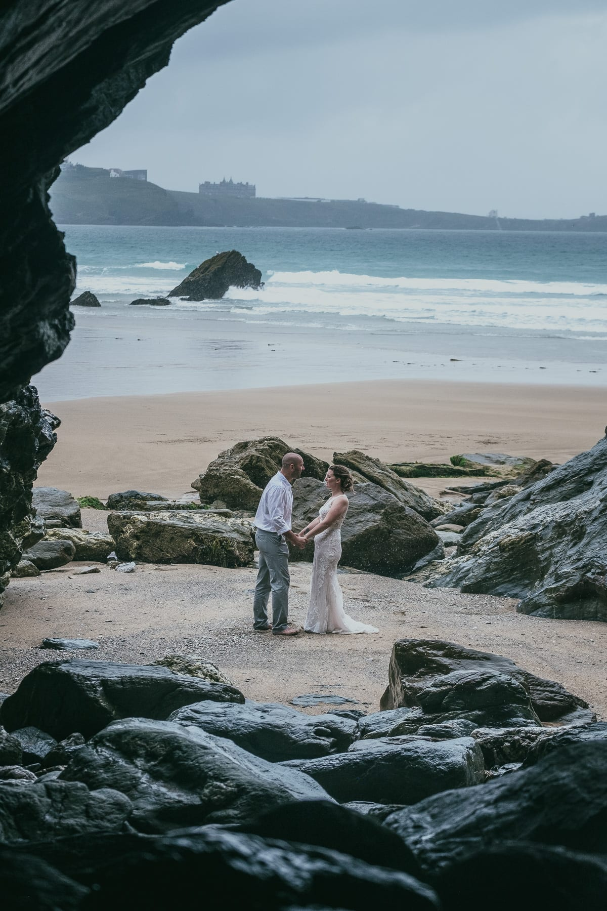 Lusty Glaze Beach Wedding Photography